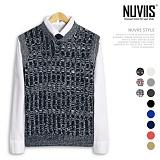 [뉴비스] NUVIIS - 꽈배기 헨리넥 니트조끼 (TR033VS) 베스트