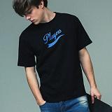 [어반플레이어스]TAIL LOGO SHORT SLEEVE T-SHIRTS (BLACK) 티셔츠 반팔티