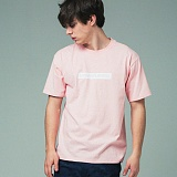 [어반플레이어스]RECTANGLE PRINT SHORT SLEEVE T-SHIRTS (PINK) 티셔츠 반팔티