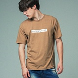 [어반플레이어스]RECTANGLE PRINT SHORT SLEEVE T-SHIRTS (BEIGE) 티셔츠 반팔티