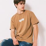 [어반플레이어스]TWO TONE BOX SLEEVE T-SHIRTS (BEIGE) 티셔츠 반팔티