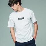[어반플레이어스]TWO TONE BOX SLEEVE T-SHIRTS (WHITE) 티셔츠 반팔티