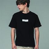 [어반플레이어스]TWO TONE BOX SLEEVE T-SHIRTS (BLACK) 티셔츠 반팔티