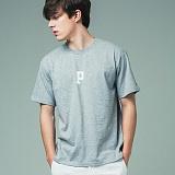 [어반플레이어스]INITIAL LOGO SHORT SLEEVE T-SHIRTS (GRAY) 티셔츠 반팔티