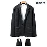[모니즈]MONIZ  사각 엠보 자켓 CCAD103