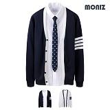 [모니즈]MONIZ  배색 클래식 가디건 CCAD029