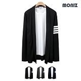 [모니즈]MONIZ  소매 사선 롱 숄 가디건 CCAD026