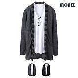 [모니즈]MONIZ  니트 단가라 숄 가디건 CCAD023