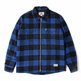 [세인트페인]SAINTPAIN - SP BEDFORD ZIPUP CHECK SHIRT LS-BLUE 집업 체크셔츠 긴팔남방 재킷 자켓