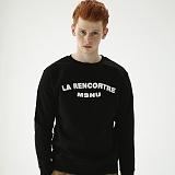 [매스노운]MASSNOUN  라렌코트레 맨투맨 티셔츠 MFSCR004-BK