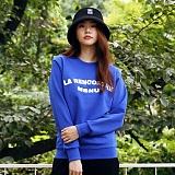 [매스노운]MASSNOUN  라렌코트레 맨투맨 티셔츠 MFSCR004-BL