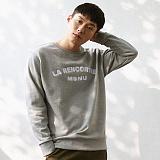 [매스노운]MASSNOUN  라렌코트레 맨투맨 티셔츠 MFSCR004-GR