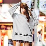 [벨라다마]BELLADAMA 신상 오버핏 맨투맨 BFM-6004