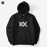 [코싸] kx logo hoodie-k s-black 기모 후드티