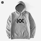 [코싸] kx logo hoodie-k gray 기모 후드티