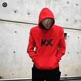 [코싸] kx logo hoodie-k b-red 기모 후드티