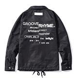 [그루브라임]Grooverhyme - REFRAME COACH JACKET (BLACK) [GJ001E33BK] 코치자켓
