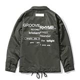 [그루브라임]Grooverhyme - REFRAME COACH JACKET (KHAKI) [GJ001E33KH] 코치자켓