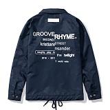 [그루브라임]Grooverhyme - REFRAME COACH JACKET (NAVY) [GJ001E33NA] 코치자켓