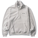 [그루브라임]Grooverhyme - HIGH NECK HALF ZIP-UP (GREY) [GZ001E43GY] 집업 아노락 자켓