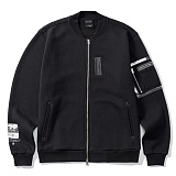 [그루브라임]Grooverhyme - VINTAGE PICTURE ZIP-UP (BLACK) [GZ002E43BK] 집업 항공점퍼