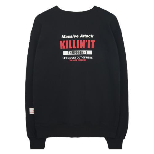 [에이비로드]ABROAD - Killin It MTM (black) 맨투맨