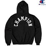 [Champion] 챔피온 Hood Zip Up Logo 기모후드집업 BLACK 정품 국내배송
