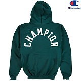 [Champion] 챔피온 Hood Zip Up Logo 기모후드집업 DARK GREEN 정품 국내배송