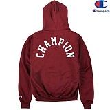 [Champion] 챔피온 Hood Zip Up Logo 기모후드집업 BURGUNDY 정품 국내배송