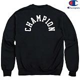 [Champion] 챔피온 CREW LOGO 기모맨투맨 BLACK 정품 국내배송