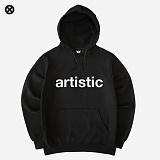 [코싸] kx artistic hoodie-k black 기모 후드티