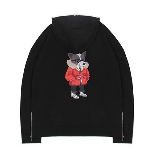 [레이든]LAYDEN - CLASSIC LAYDOG HALF ZIP HOODIE-BLACK 후디 후드 티셔츠