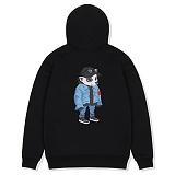 [레이든]LAYDEN - HOTTEST LAYGOM PULLOVER HOODIE-BLACK 후디 후드 티셔츠