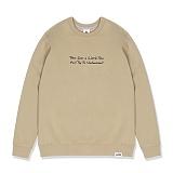 [레이든]LAYDEN - TAKE A TIME SWEATSHIRTS-BEIGE 크루넥 스��셔츠 맨투맨