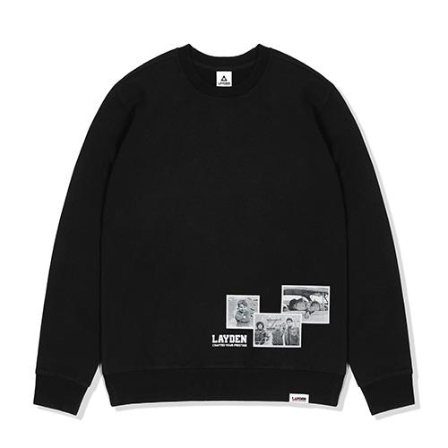 [레이든]LAYDEN - 1970 KIDS SWEATSHIRTS-BLACK 크루넥 스��셔츠 맨투맨