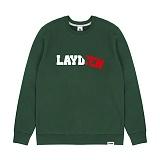 [레이든]LAYDEN - PAPER CUT SWEATSHIRTS-HUNTER GREEN 크루넥 스��셔츠 맨투맨