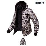 [모니즈]MONIZ 모자이크 후드 깔깔이점퍼 KKA202