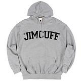 [짐커프]JIMCUFF - 스탠다드 로고 기모 후드티 회색