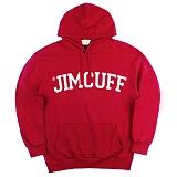 [짐커프]JIMCUFF - 스탠다드 로고 기모 후드티 빨강