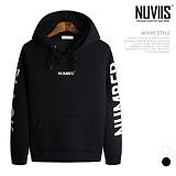 [뉴비스] NUVIIS - 네오프렌 넘버 블랙 후드 티셔츠 (RT099HD)