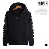 [뉴비스] NUVIIS - 네오프렌 R 레터링 후드 티셔츠 (RT098HD)