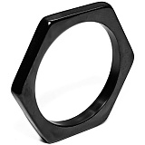 [마크4]MARK-4 - SLIM HEXAGON (BLACK) 반지