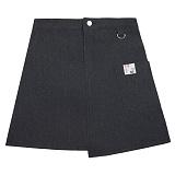 [에이비로드]ABROAD - Unbalance Denim Skirt (black) 언밸런스 데님 스커트