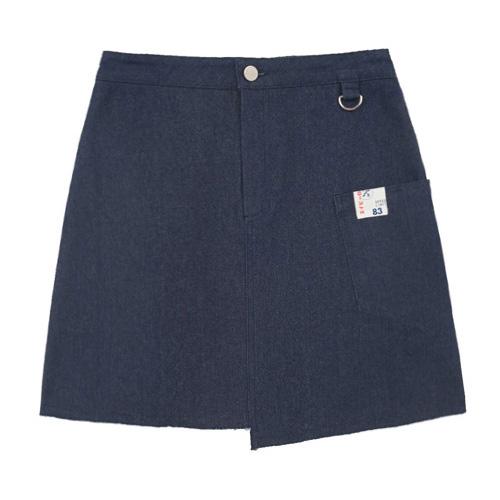 [에이비로드]ABROAD - Unbalance Denim Skirt (blue) 언밸런스 데님 스커트
