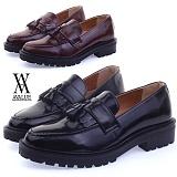 [에이벨류] 458-parterbell 남성 유광 태슬 로퍼-3cm (블랙.브라운) 남자 파트너방울 구두 신발 단화