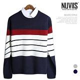 뉴비스 - 클래식 단가라 니트 (MD019KN) 스웨터