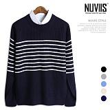 뉴비스 - 숄더 단추 단가라 니트 (MD018KN) 스웨터