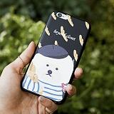 [비욘드클로젯X매니퀸] 아이폰6 케이스 - 프랑스 도그 아티피셜 레더 블랙