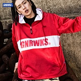 [제네럴웍스]GENERALWORKS - GPH301 하프집업 아노락 후디 - 레드 재킷 자켓 반집업