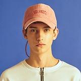 [참스]CHARMS - Logo Cap PINK 로고 롱 스트랩 볼캡 야구모자